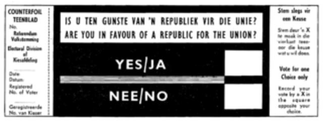 South Africa a Republic