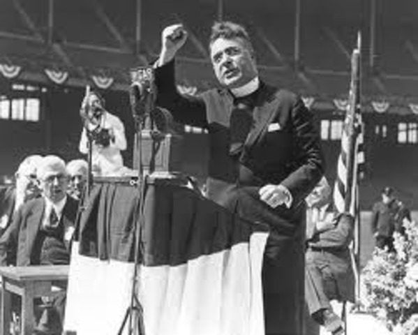 Father Coughlin attacks FDR and jews