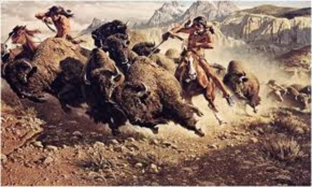 The very first Buffalo hunt.