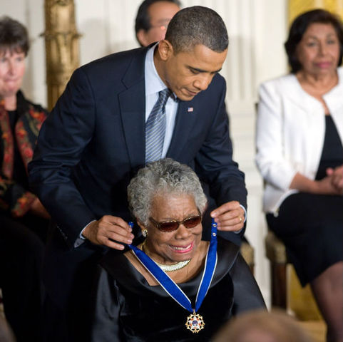 Maya Angelou Awarded Presidential Medal of Freedom