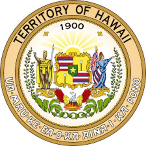 Hawaii becomes a U.S. territory