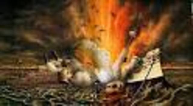 Sinking of the Maine (cause of S-A War)
