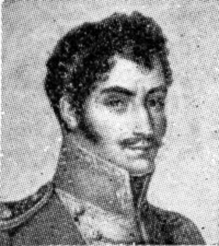 Simón Bolívar leads many countries of South America in their fight for independence from Spain.
