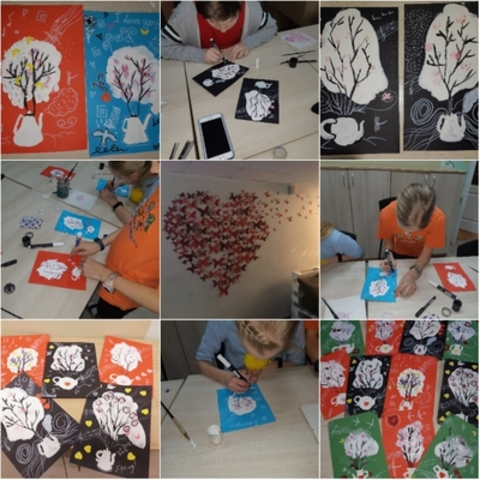 We created ART advent-calendar for Valentine's Day and presented for our partners