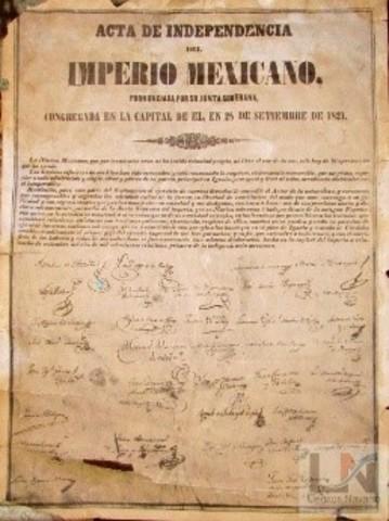 Se promulga el Acta de Independencia