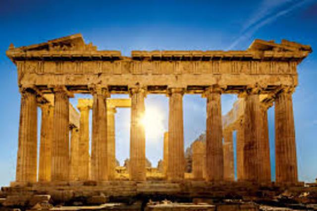 Reconstrucción del partenón por Pericles