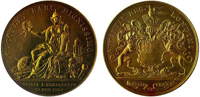 Galardnado por la medalla Copley, el premio con mas honor para la Royal Society