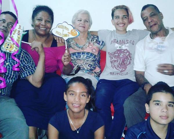celebrando con mi familia