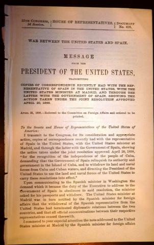 McKinley's War Message