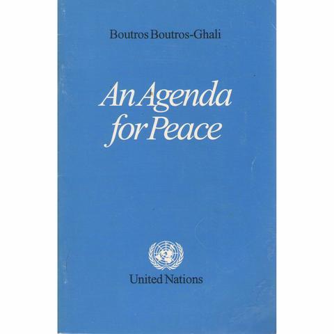 """SG-ONU: """"Agenda pour la Paix"""""""