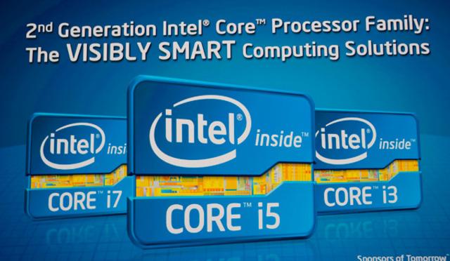 Familia Core i7, i5, i3 (segunda generación)