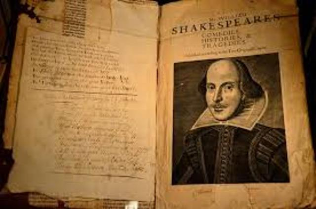 Shakespeare's plays are first presented.