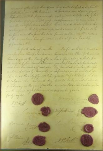 Firmaron los Tratados de Guadalupe Hidalgo