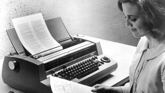 The Typewriter With Magnetic Tape