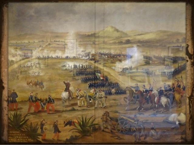 Batalla en fuertes de Loreto y Guadalupe ganada por los mexicanos