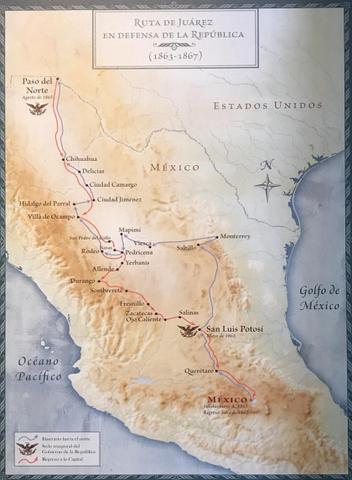 El presidente Juárez decidió huir hacia San Luis Potosí