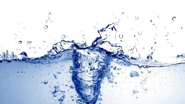 Water appears in liquid form