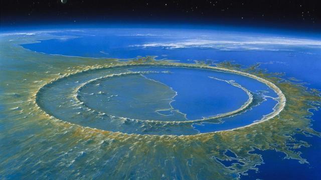 Meteor impact, Chicxulub crater, Yucatan, Mexico