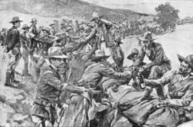 The Spanish surrender at Santiago.