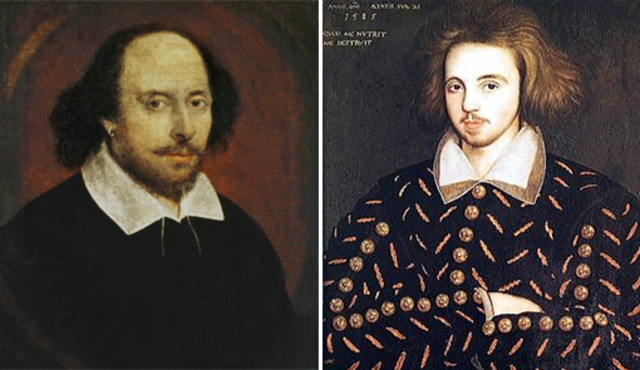 Marlowe and Shakespeare are born in the same year.