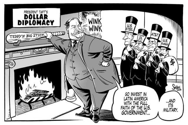 The beginning of Dollar Diplomacy