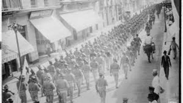 US forces occupy Vera Cruz, Mexico.