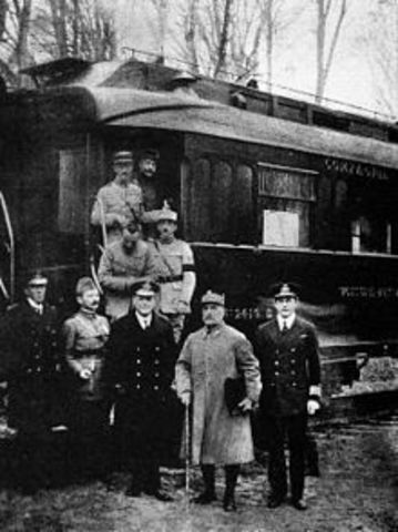 The signing of the Armistice