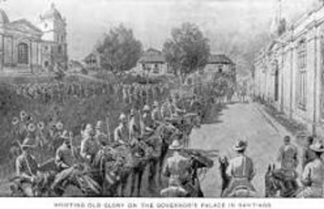The Spanish Surrenders at Santiago