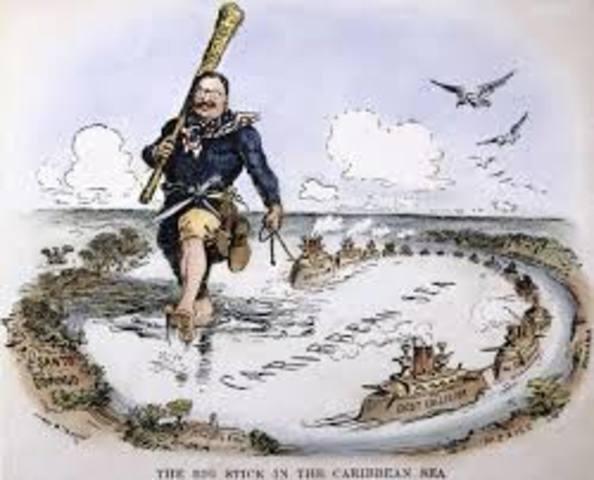 Roosevelt Introduces Big Stick Diplomacy