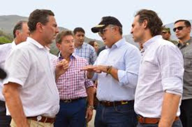 Visita del presidente a las instalaciones de hidroituango