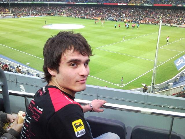 vaig a veure un partit de lliga al Camp Nou