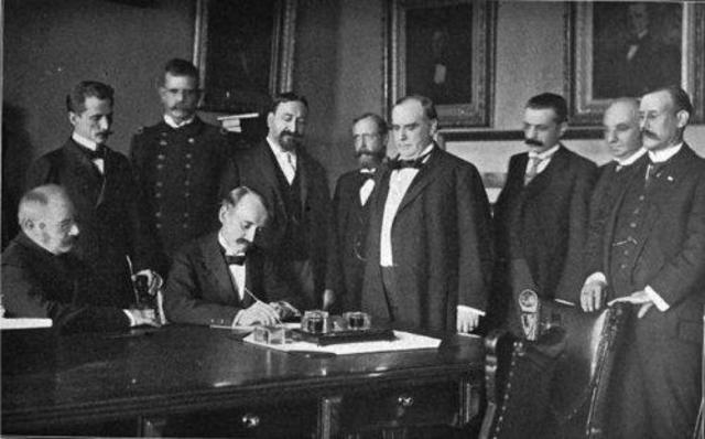 Spanish American War (Spain Signs Armistice)