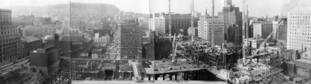 Construction de la Place Ville-Marie