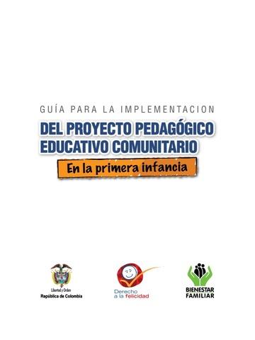 Proyecto Pedagógico Educativo Comunitario –PPEC
