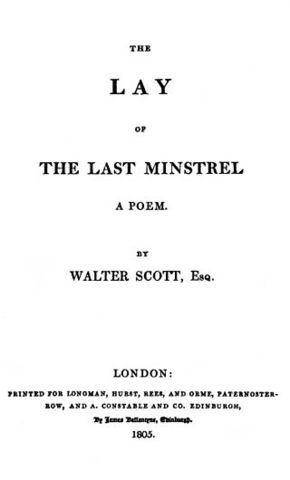 Walter Scott publishes The Lay of the Last Minstrel