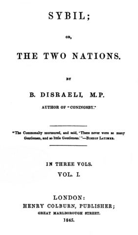 Two nations by benjamin disraeli