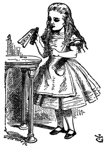 Alice Liddell in Wonderland