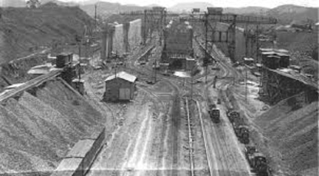 Panama Canal (Construction begins)