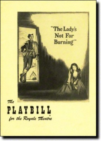 The Lady's Not For Burning By Christopher Fry's