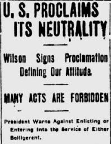 Neutrality Proclamation (World War 1)