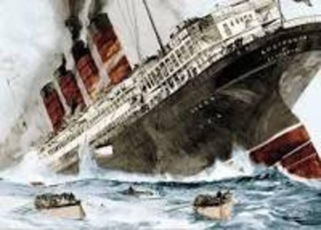 World War One (Sinking of the Lusitania)
