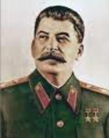 death of Vladimir Lenin; control of the USSR to Joseph Stalin