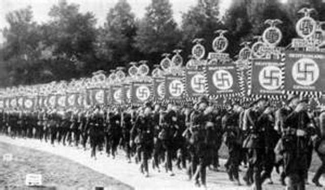German Troops invade the Rhineland