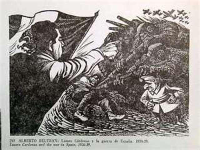 Civil war begins in Spain