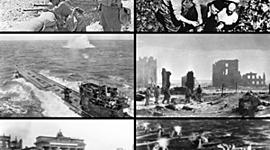 Antecedentes, desarrollo de la Segunda Guerra Mundial, la Guerra Fría y la caída del muro de Berlín. timeline