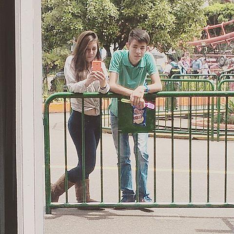 un dia en el parque de atracciones