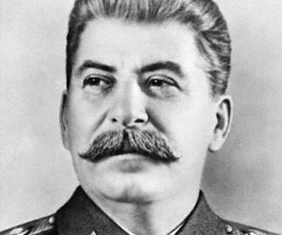 Death of Vladimir Lenin; control of USSR to Joseph Stalin; deaths of 8-13 millioin Russians