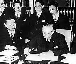 Nazi Germany and Imperial Japan sign the Anti-Comintern Pact.