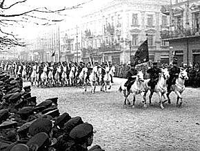 The Soviet Union invades Poland from the east.