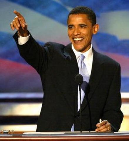 Sen. Barack Obama becomes the first African American to be nominated as a major party nominee for president.